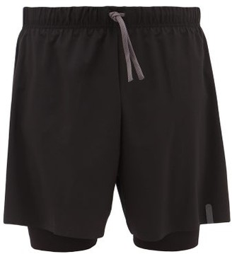 Ashmei - 2-in-1 Compression Running Shorts - Mens - Black