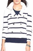 Lauren by Ralph Lauren Lauren Ralph Lauren Womens Knit Striped Casual Blazer M
