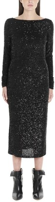 In The Mood For Love Sequinned Open Back Dress