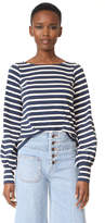 Marc Jacobs Crew Neck Sleeve Top