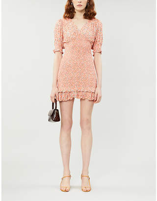 Faithfull The Brand Margherita woven mini dress