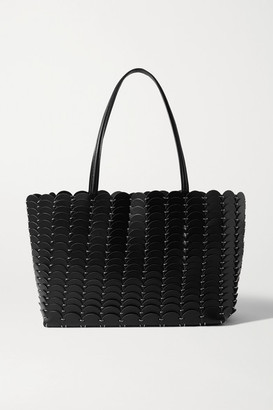 Paco Rabanne Leather Tote - Black