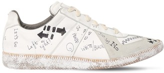 Maison Margiela Graffiti Leather & Suede Low Top Sneaker