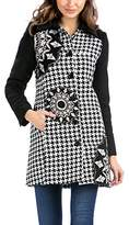 Desigual Women's Reefer Long sleeve Coat - Black -