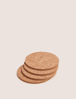 Marks and Spencer Set of 4 Round Cork Coasters
