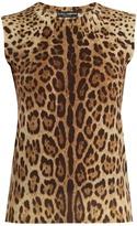 Dolce & Gabbana Leopard-print wool-knit top