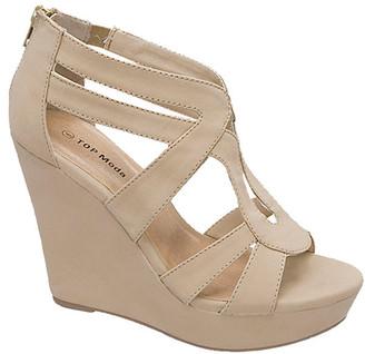 Top Moda Women's Sandals beige - Beige Lindy Sandal - Women