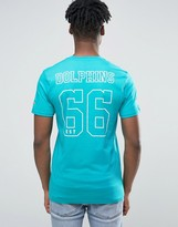 New Era Dolphins T-shirt With Back Print