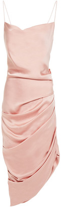 Jonathan Simkhai Draped Satin-crepe Dress