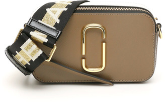 MARC JACOBS, THE MARC JACOBS (THE) THE SNAPSHOT SMALL CAMERA BAG OS Brown, White Leather