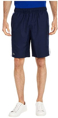 Lacoste Jersey Lined Shorts (Navy Blue/White/Obscurity) Men's Shorts
