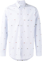 Etro multi embroidered figures shirt