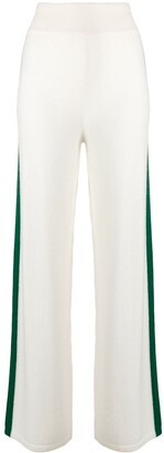 Cashmere In Love Cashmere Blend Side Stripe Track Pants