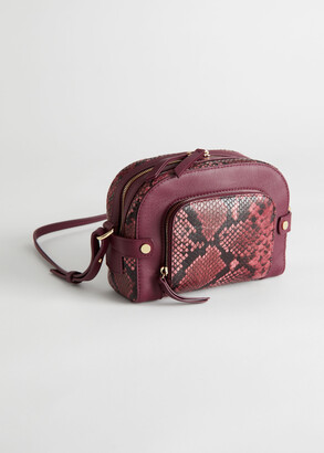 And other stories Leather Suede Small Crossbody Bag