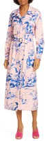Sies Marjan Floral Print Crepe Long Sleeve Midi Shirtdress