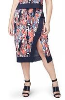 Rachel Roy Plus Size Women's Crossover Stretch Knit Skirt