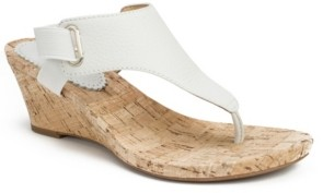 White Mountain Women's All Glad Cork Wedge Sandals Women's Shoes