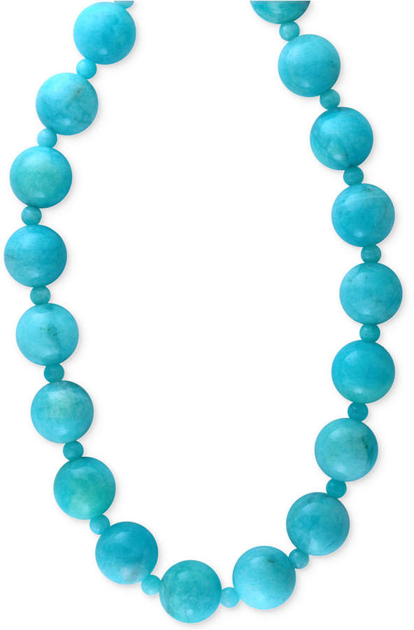 Effy Amazonite (12 and 4mm) Bead Statement Necklace in 14k Gold