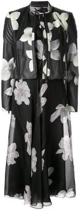Ralph Lauren floral print leather jacket