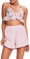 Missguided Tropical Print Crop Camisole