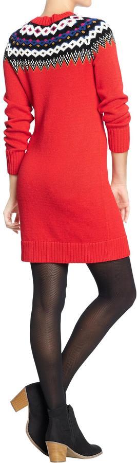 Old Navy Women's Fair Isle Sweater Dresses
