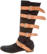 Vivienne Westwood Buckle-Embellished Suede Boots