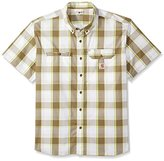 Carhartt Men's Big and Tall Force Ridgefield Plaid Long Sleeve Shirt