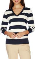 Nautica Long Sleeve Solid Sweater