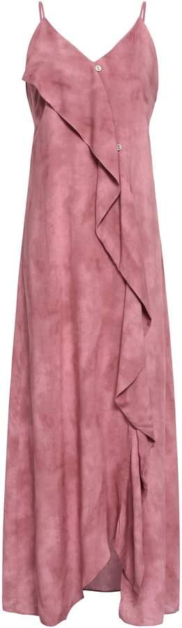 Vix Paula Hermanny Draped Voile Maxi Dress