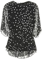 Stella McCartney Polka-dot crepe de chine blouse