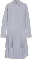 ADAM by Adam Lippes Striped pleated poplin dress