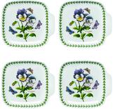 Portmeirion Botanic Garden Porcelain Canape Dishes (Set of 4)