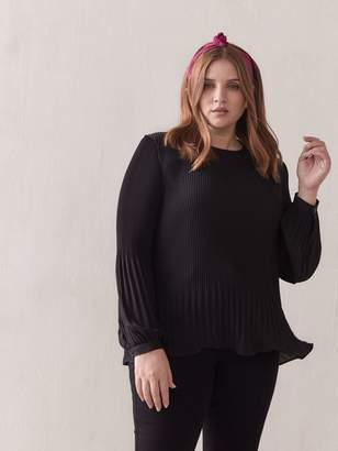 Pleated Long-Sleeve Blouse - Addition Elle
