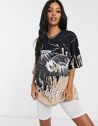 Jaded London oversized t-shirt in faded eagle print