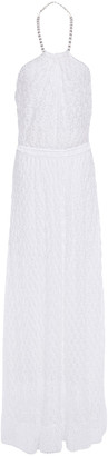 Missoni Crochet-knit Halterneck Maxi Dress