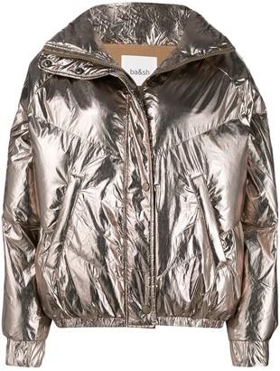 BA&SH Darcy metallic bomber jacket
