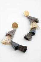 francesca's Valentina Tiered Tassel Earrings in Gray - Gray