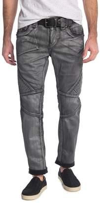 Rock Revival Metallic Stitch Biker Jeans