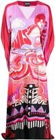 Just Cavalli graphic-print V-neck maxi dress