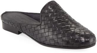 Sesto Meucci Nixie Woven Calf Slide Mule, Black