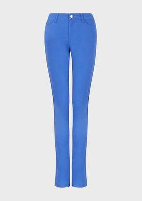 Emporio Armani J18 Garment-Dyed, Stretch-Satin, Slim-Fit Trousers