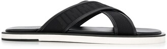 Jimmy Choo logo leather sandals