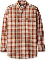 Wrangler Men's Big and Tall Foreman Plaid Work Shirt