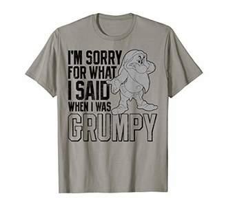 Disney Snow Grumpy I'm Sorry For What I Said T-Shirt