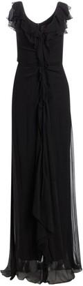 Carolina Herrera Ruffled Silk Chiffon Dress