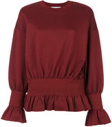 Stella McCartney ruffle-trimmed sweatshirt