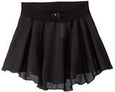 Capezio Pull-On Skirt Georgette (Toddler/Little Kids/Big Kids) (Black) Girl's Skirt