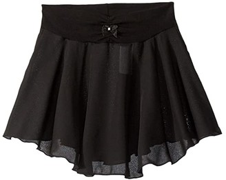 Capezio Pull-On Skirt Georgette (Toddler/Little Kids/Big Kids) (Black) Girl's Skirt
