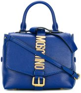 Moschino letters buckle satchel bag