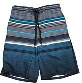 """Ocean Pacific OP w/ Blue Stripe Eboard At Knee 22"""" Outseam Swim Short Trunks - 2XL"""